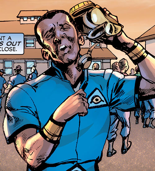 Royal and Charles Williams (Astro City Dark Age) (Vengeance Brothers) blue shirt training camp