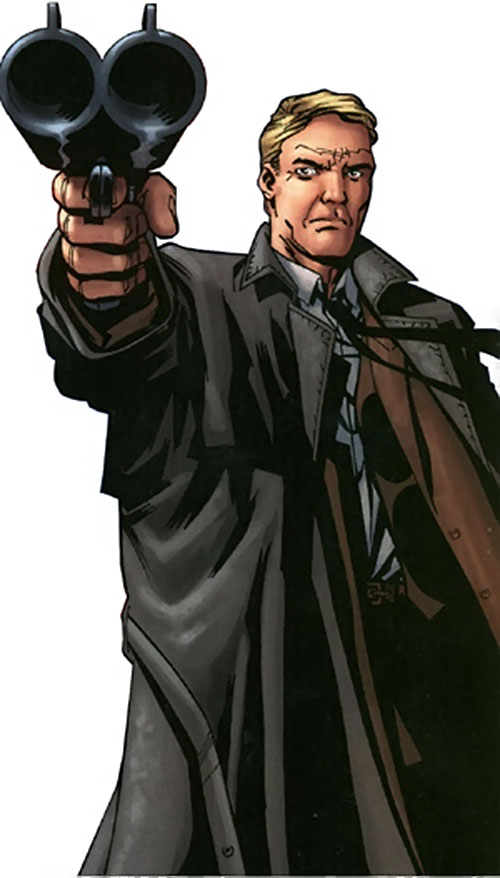 Charlie Arrows of the Establishment (Wildstorm Comics) pointing a sawed-off shotgun