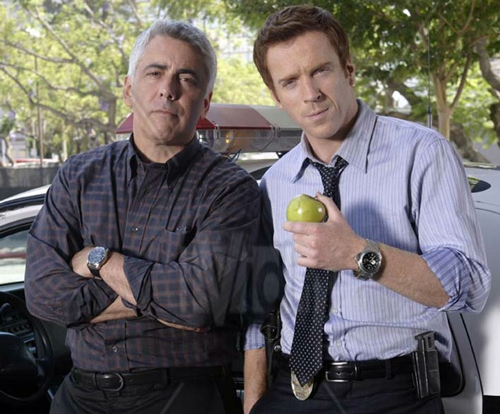 Charlie Crews (Damian Lewis) with Ted Earley (Adam Arkin)