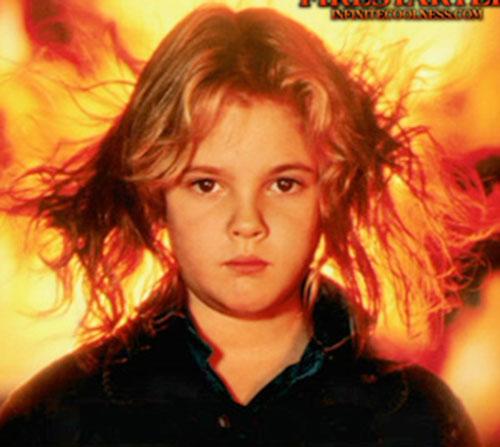 Charlene McGee (Drew Barrymore in Firestarter) face closeup