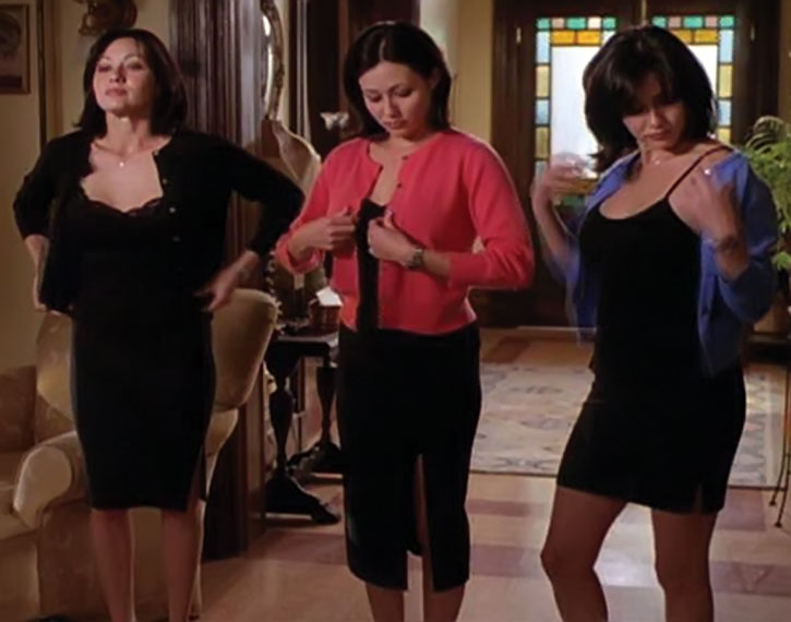 The Halliwell sisters dressing up