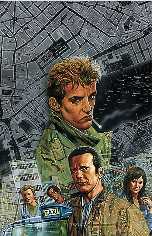 Chas Chandler (Hellblazer DC Comics) and a London street plan