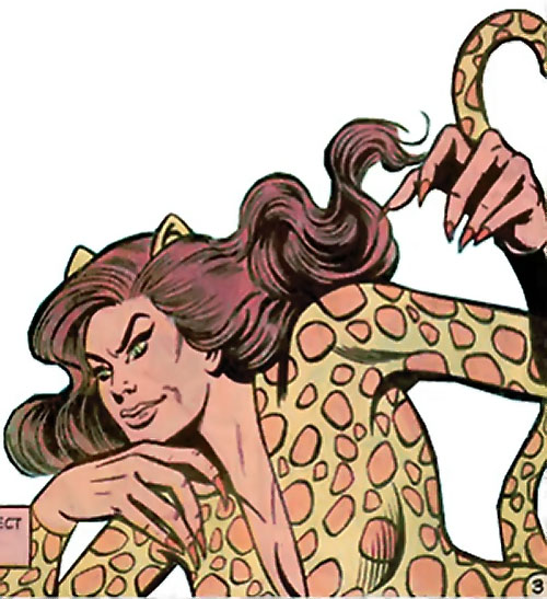 Cheetah (Wonder Woman enemy) (DC Comics) (Domaine) with her claws on