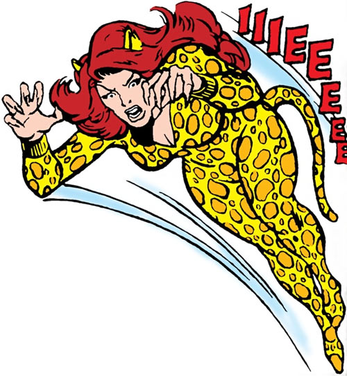 Cheetah (Wonder Woman enemy) (DC Comics) (Domaine) leaps to attack
