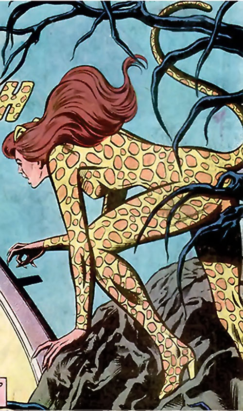 Cheetah (Wonder Woman enemy) (DC Comics) (Domaine) prowling