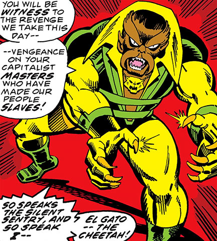 Cheetah (Captain Marvel Comics) making a speech