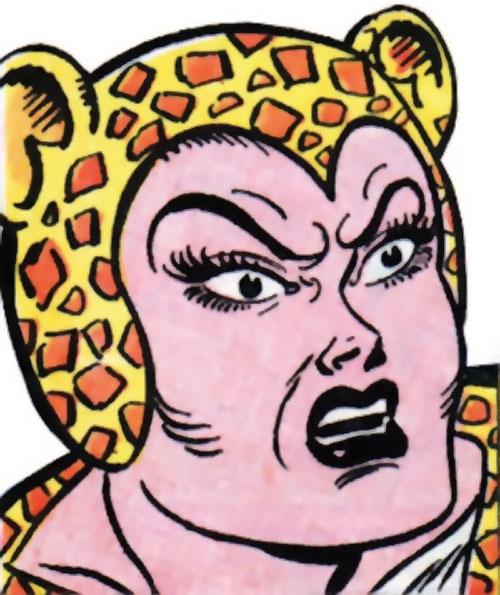 Cheetah (Wonder Woman enemy) (Golden Age DC Comics) of Earth-1 furious face closeup