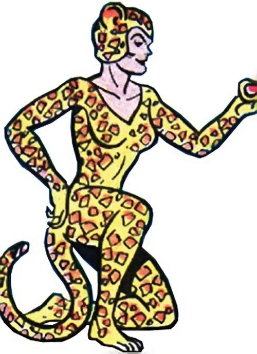 Cheetah (Wonder Woman enemy) (Golden Age DC Comics) of Earth-1 kneeling