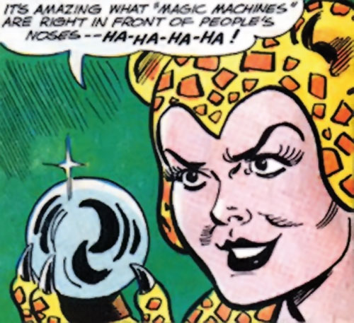 Cheetah (Wonder Woman enemy) (Golden Age DC Comics) of Earth-1 with a crystal ball