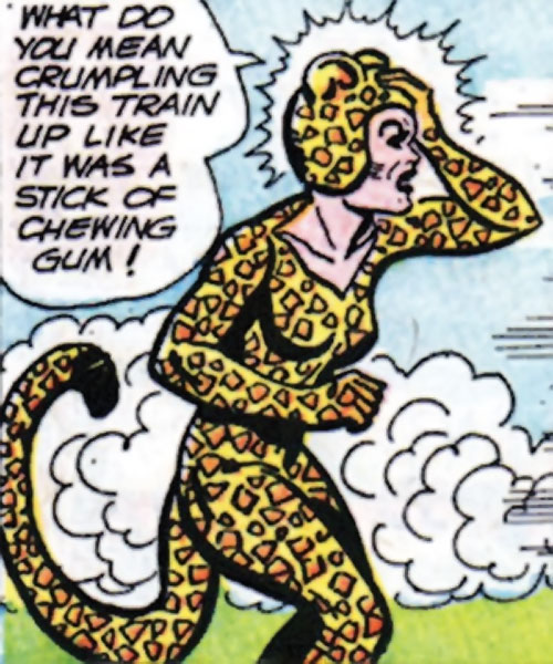 Cheetah (Wonder Woman enemy) (Golden Age DC Comics) of Earth-1 shocked