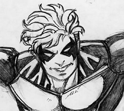 Cheshire Cat (DC Heroes RPG / Marvel Super-Heroes RPG) smiling pencil art