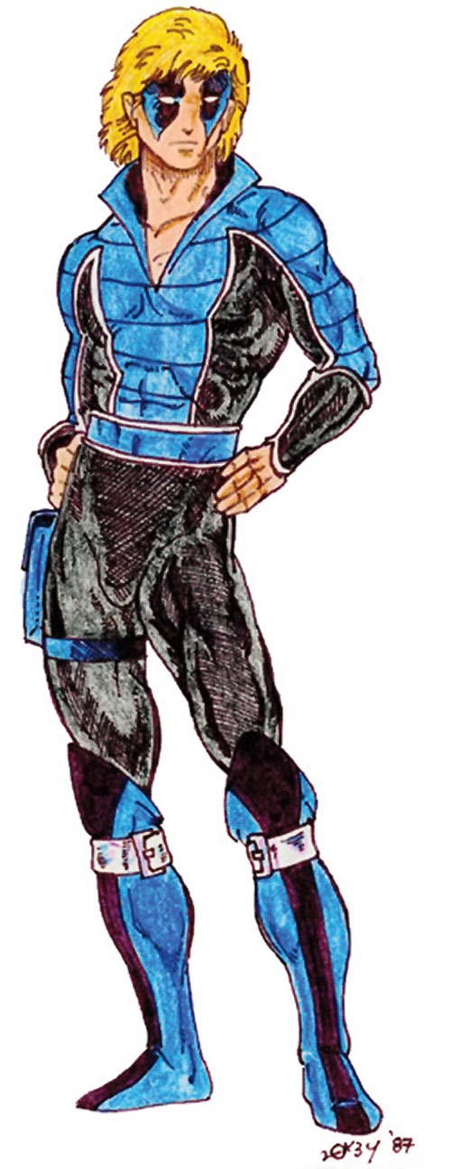 Cheshire Cat (DC Heroes RPG / Marvel Super-Heroes RPG) blue and black costume
