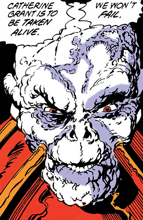 Chiller (Booster Gold enemy) (DC Comics) face closeup