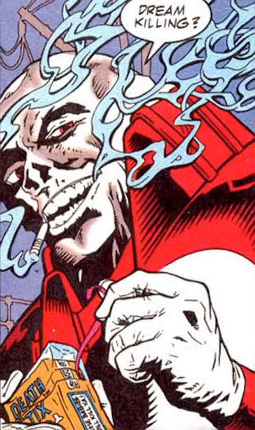 Chiller (Booster Gold enemy) (DC Comics) having a cigarette