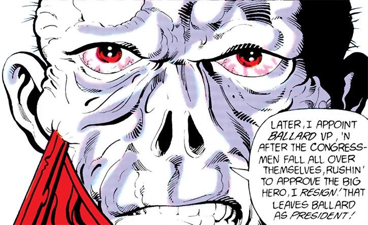 Chiller (DC Comics) face closeup plan recap