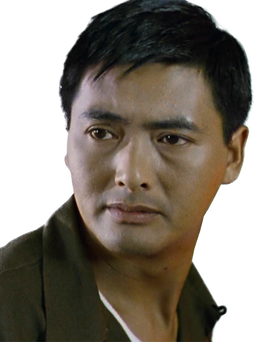 Chow Yun Fat closeup in Hard Boiled