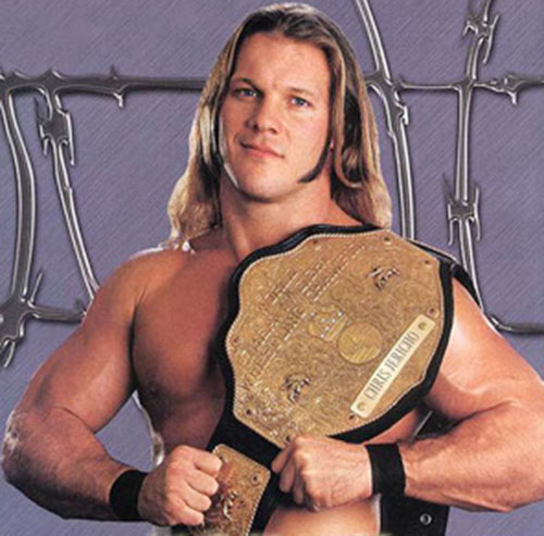 Chris Jericho with a trophy