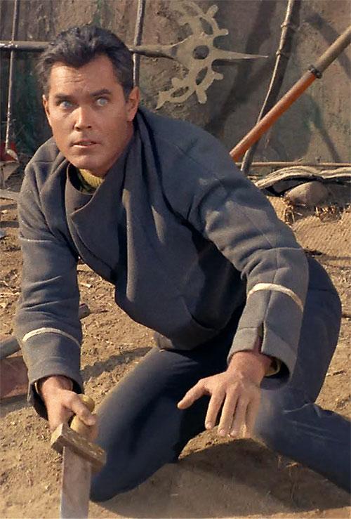 Captain Christopher Pike (Jeffrey Hunter in Star Trek) in the arena