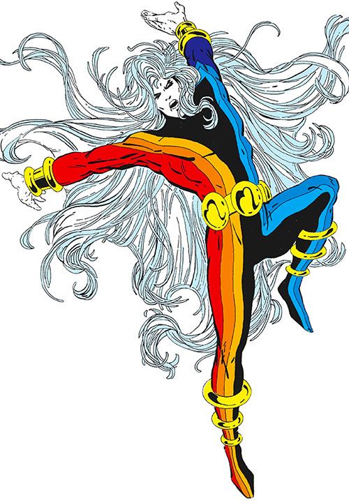 Chroma (Infinity, Inc enemy) (DC Comics) Who's Who illustration