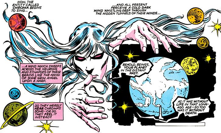 Chroma (DC Comics) 1980s Infinity, Inc. appearance song