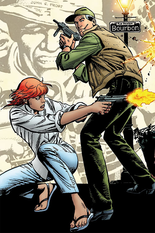 Cinder and Ashe - Detail from the first issue's cover - Garcia-Lopez