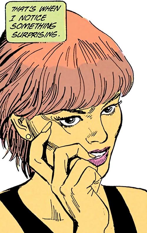Cinder (Cinder & Ashe DC Comics) biting her nail