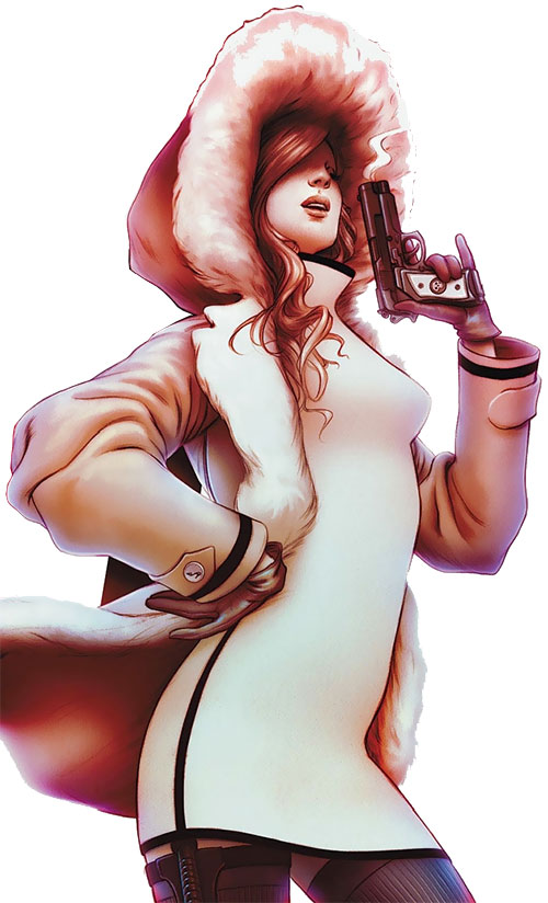 Cinderella of the Fables (DC Comics) in a winter coat and super tight dress