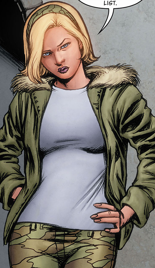 Cinderella of the Fables (DC Comics) in a parka and fatigues