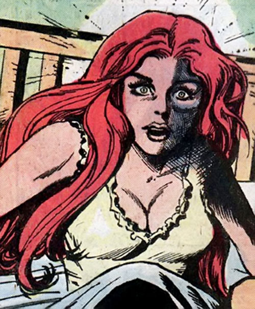 Cinnamon (Kate Manser) (DC Comics) waking up from a nightmare