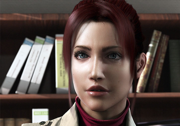 Claire Redfield face closeup