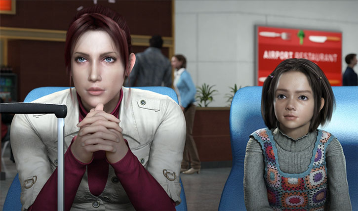 Claire Redfield and Rani Chawla in Resident Evil: Degeneration