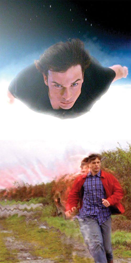 Clark Kent (Tom Welling in Smallville) super-flight and super-running montage
