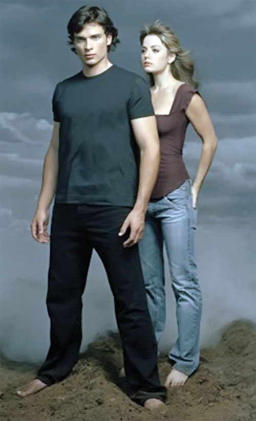 Clark Kent (Tom Welling in Smallville) with Lois Lane