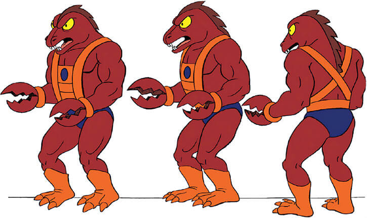 Clawful - Masters of the Universe - Lobster - Model sheet turn