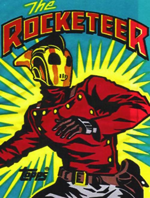 Rocketeer vintage style illustration