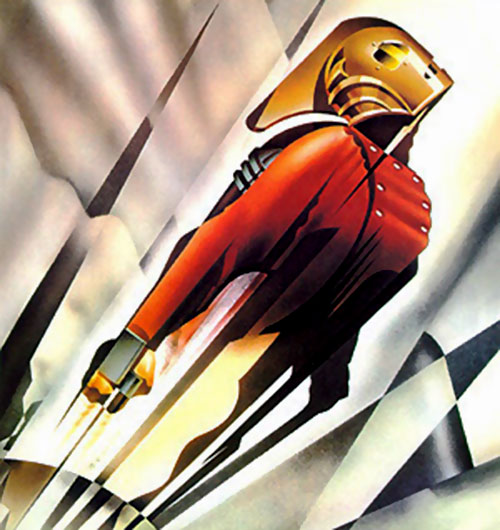 Rocketeer art deco illustration