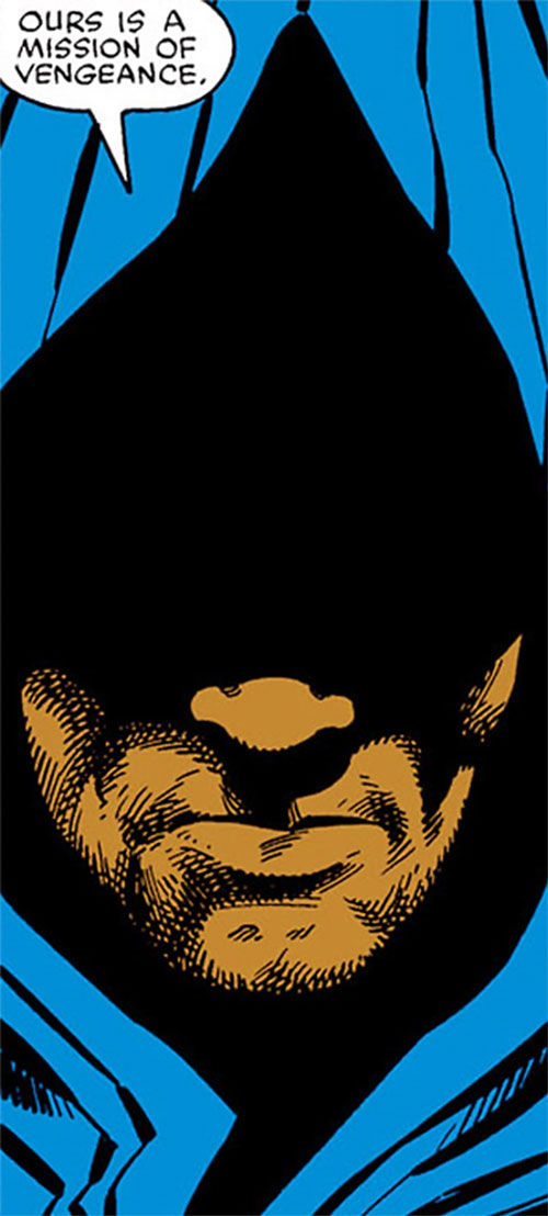 Cloak (Marvel Comics) (Cloak and Dagger) shadowed face closeup