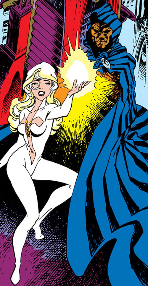 Cloak (Marvel Comics) (Cloak and Dagger) standing behind Dagger