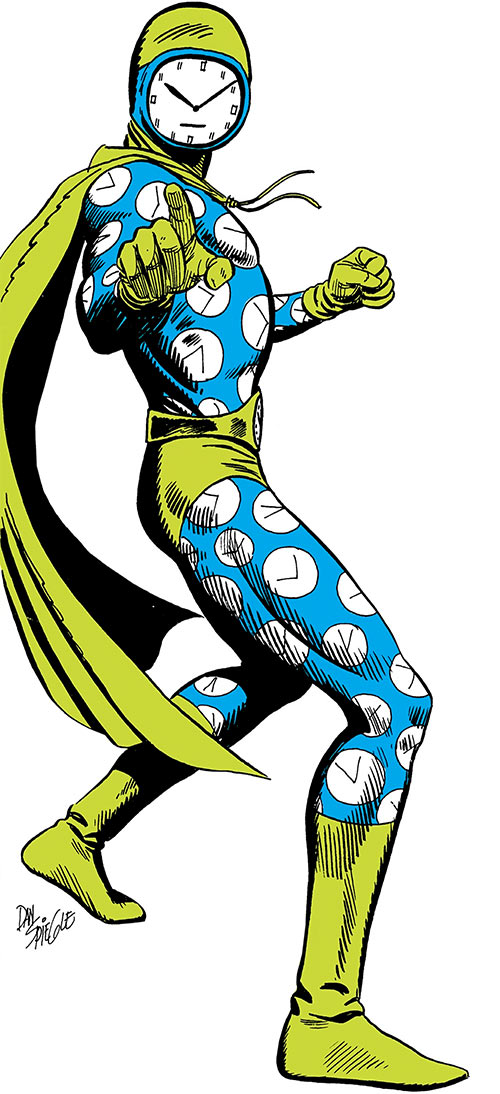 Clock King (DC Comics) from the Who's Who, over a white background