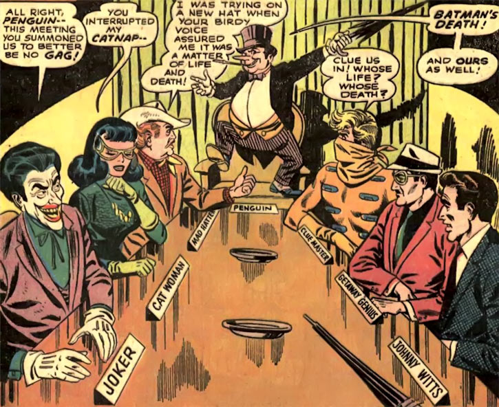 The Penguin assembles the Cluemaster, Catwoman, Joker and others (DC Comics / Batman)
