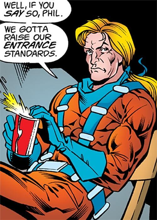 Cluemaster - DC Comics - Batman / Robin foe - Dubious, opens a drink