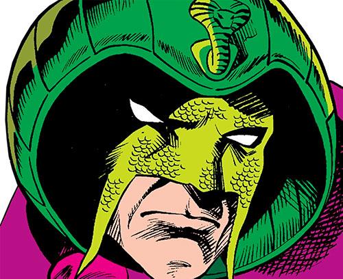 Cobra (Marvel Comics) mask closeup