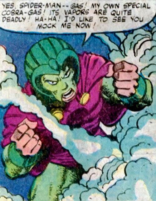 Cobra (Marvel Comics) and his cobra gas