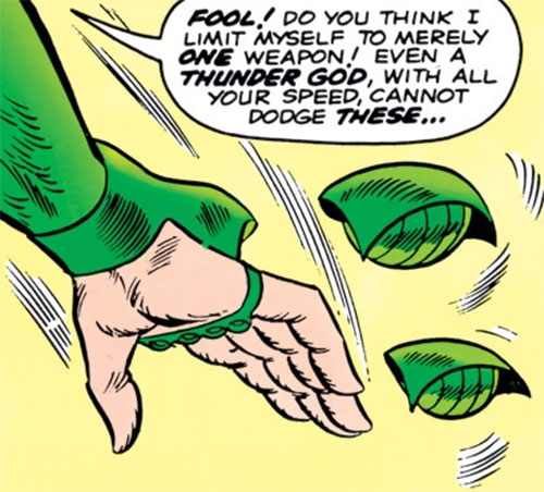 Cobra (Marvel Comics) throwing projectiles