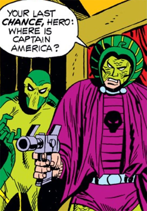 Cobra (Marvel Comics) holding a pistol, and Viper