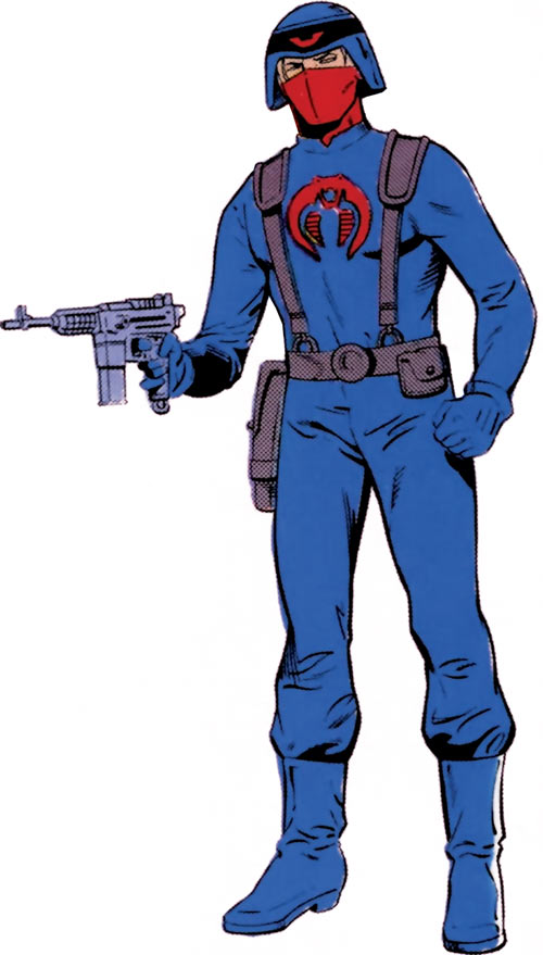 Cobra officer (GI Joe) from the older Marvel handbook