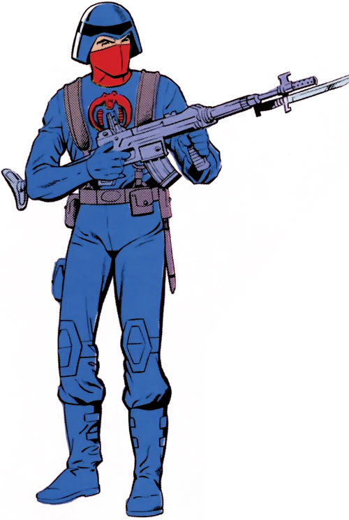 Cobra soldier in 1980s GI Joe Marvel comics
