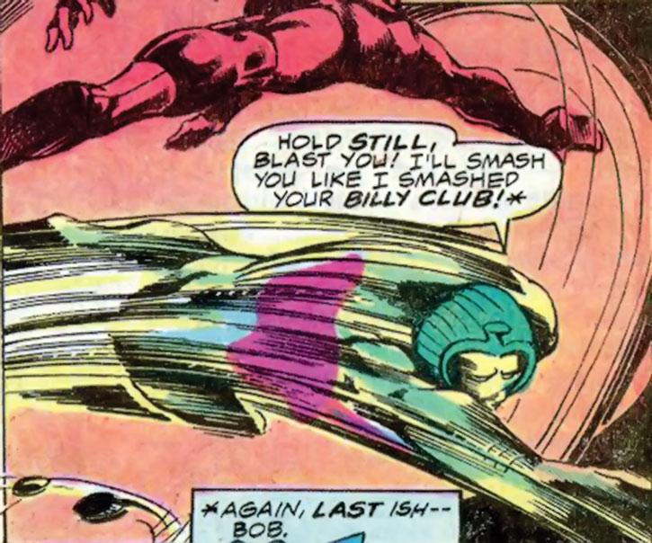 Cobra dashes at Daredevil