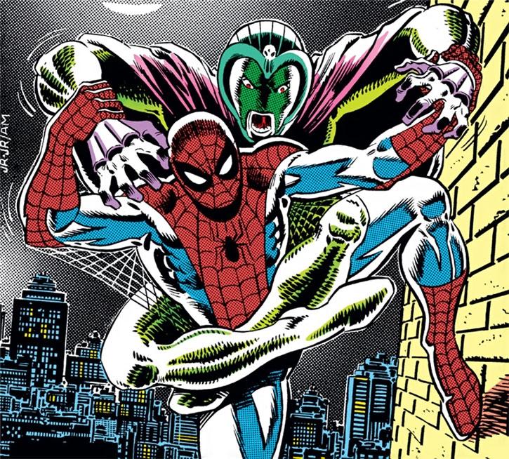 Cobra attacks Spider-Man