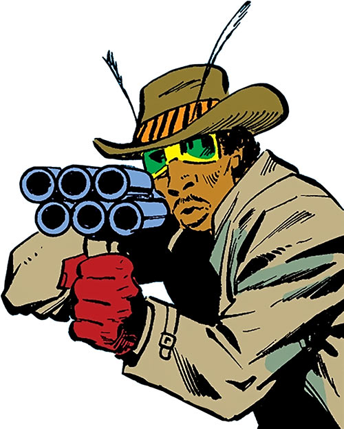 Cockroach Hamilton (Marvel Comics) (Luke Cage enemy) pointing his shotgun